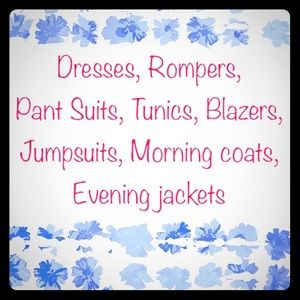 Dresses & Skirts - Dresses, Tunics, Blazers Romper and such!